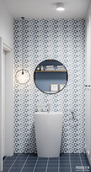 حمام تنفيذ PRØJEKTYW | Architektura Wnętrz & Design,