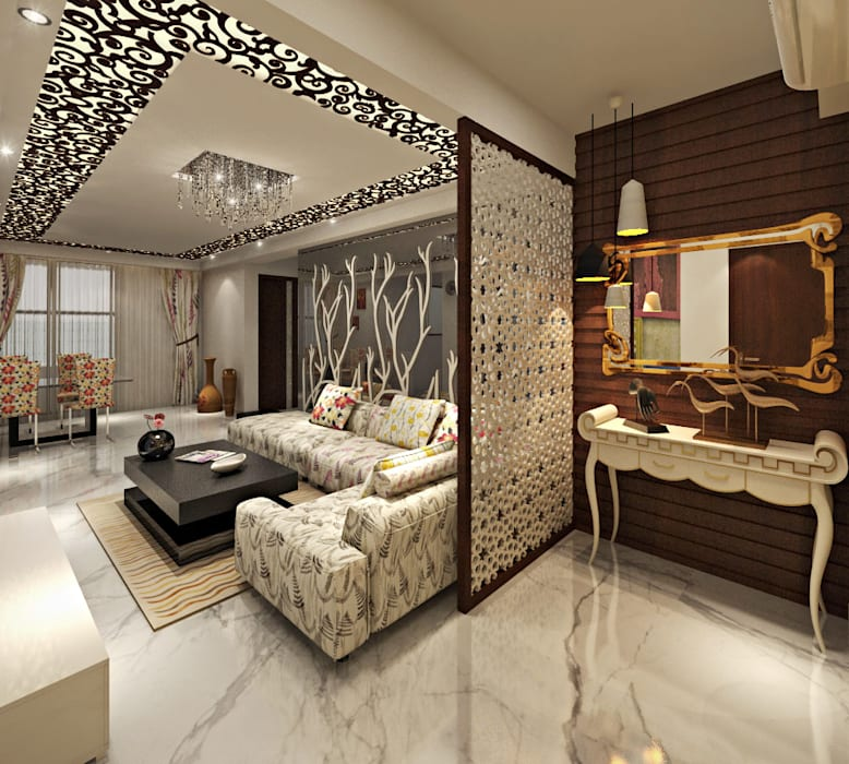 Living Foyer Area by homify Asian