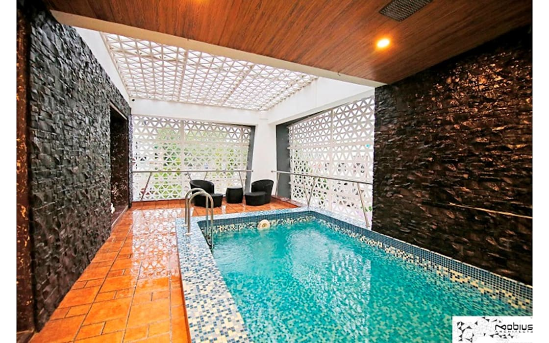Private Bungalow Modern pool by Mobius Architects Modern