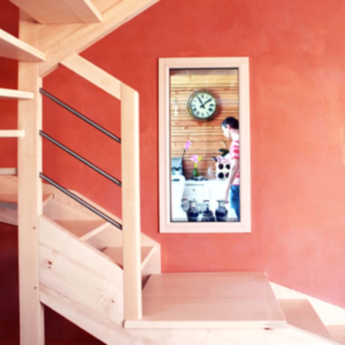 escalier Fenêtres & Portes modernes par yg-architecte Moderne Bois Effet bois