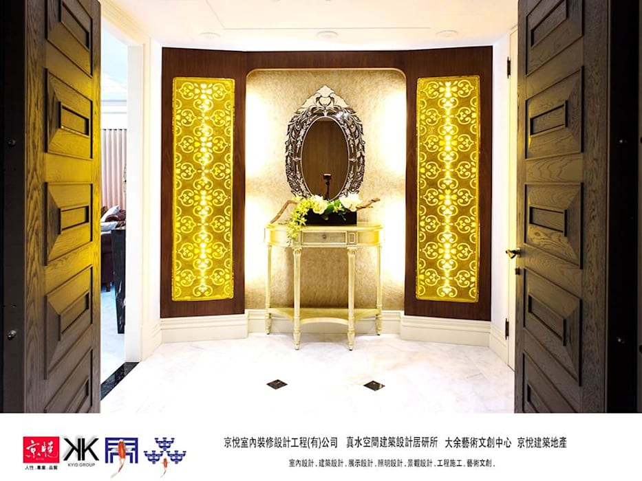 京悅設計 - 誠臻邸豪宅會所 經典風格的走廊,走廊和樓梯 根據 京悅室內裝修設計工程(有)公司|真水空間建築設計居研所 古典風