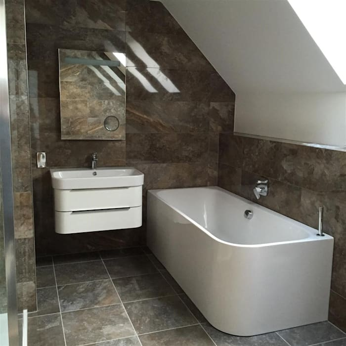 Traditional Contemporary Bathrooms Ltd: Modern Bathroom: Bathroom By Roundhouse Architecture Ltd
