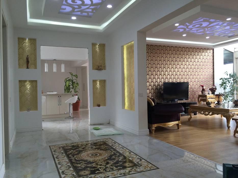 rwiçmimari Rustic style corridor, hallway & stairs