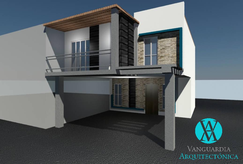 Remodelación de fachada Casas modernas de Vanguardia Arquitectónica Moderno Piedra
