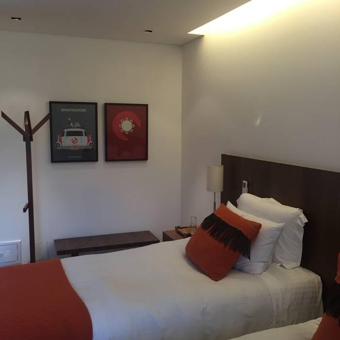 luciana zeitel & marcella libeskind arquitetura e interiores Modern style bedroom