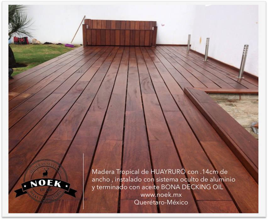 TERRAZA DE HUAYRURÓ: Jardines de estilo minimalista por Noek Pisos de Madera y Carpintería