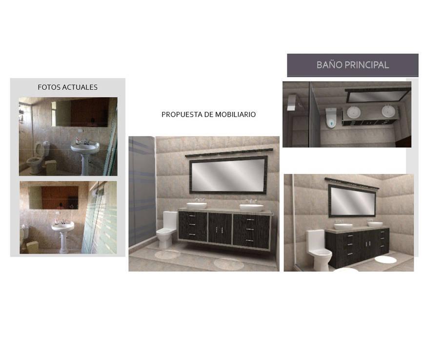 Mobiliario para Baño Existente: Baños de estilo  por Arq. Marynes Salas