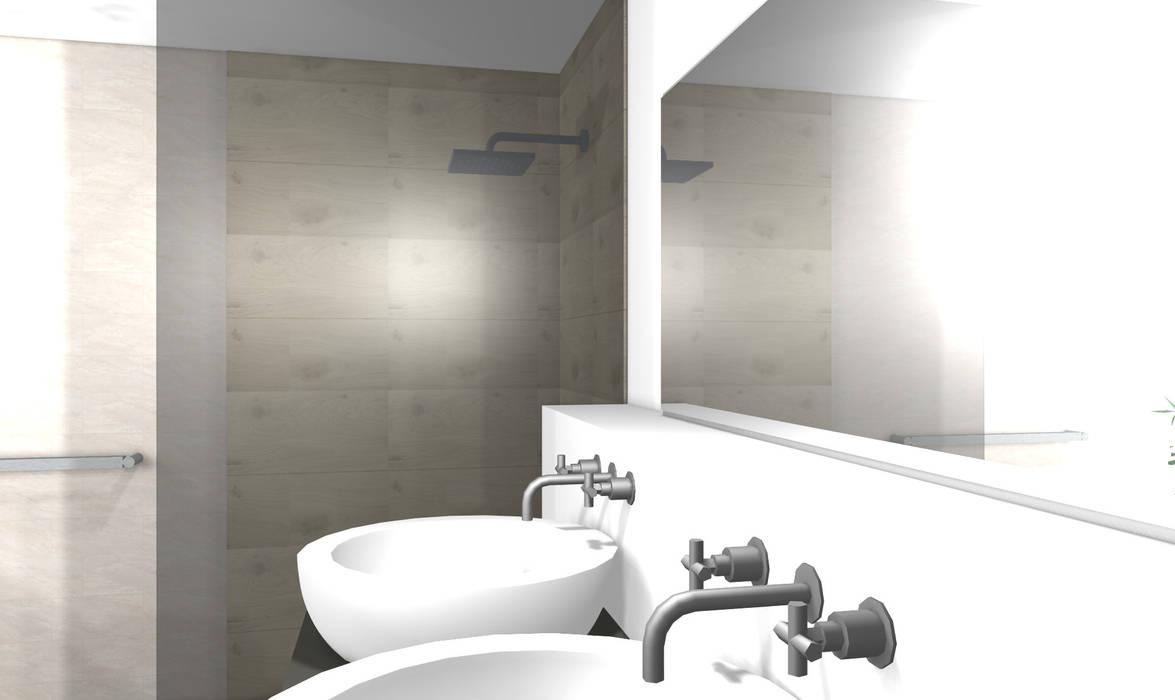 Modernes badezimmer 3d: badezimmer von wohnly | homify