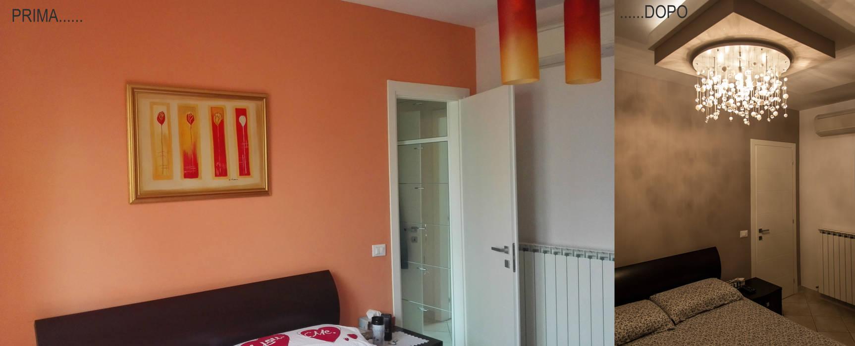 Residenza R+C: Camera da letto in stile in stile Moderno di Architettura & Interior Design 'Officina Archetipo'