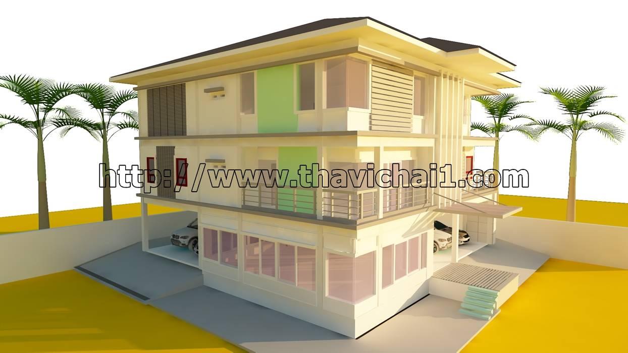 ออกแบบบ้าน 3 ชั้น โดย PROFILE INTERIOR STUDIO โมเดิร์น คอนกรีตเสริมแรง