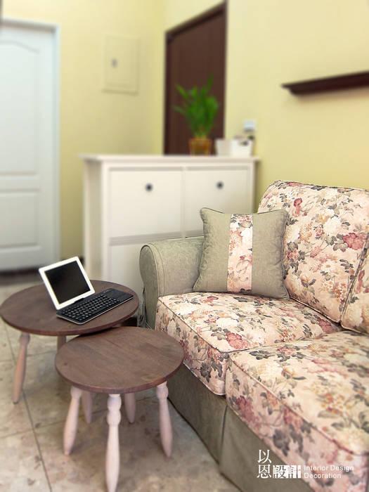 客廳沙發區 根據 以恩設計 鄉村風