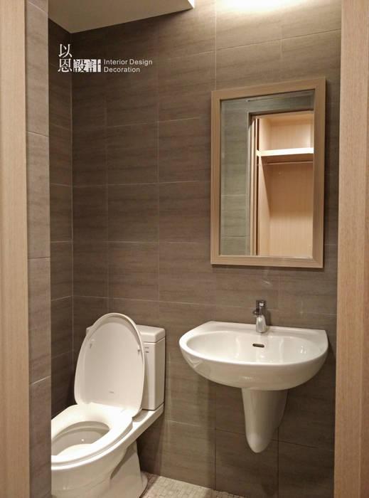 主臥洗手間:  浴室 by 以恩設計