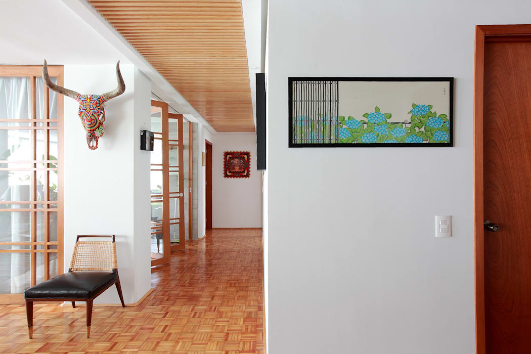 All Arquitectura Tropical style corridor, hallway & stairs Wood effect