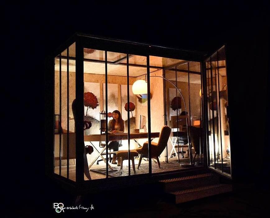 Un CUBE dans mon jardin : Maisons de style de style Moderne par Tabary Le Lay