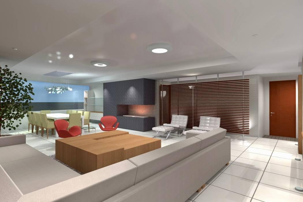 Departamento Fuentes de Interlomas: Salas de estilo  por simon&diseño
