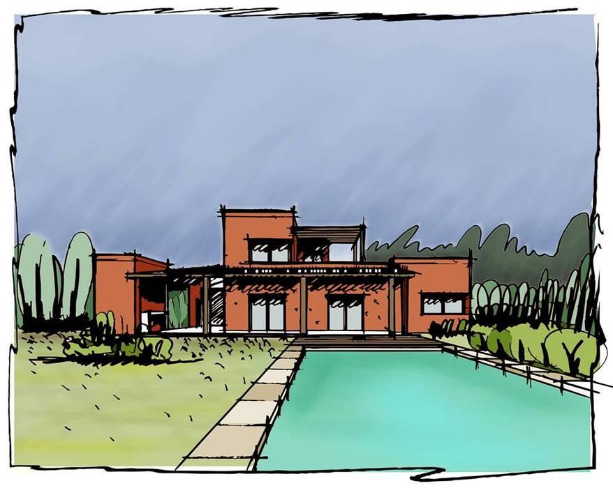 Las chicharras I: Casas de estilo moderno por TORRETTA KESSLER Arquitectos