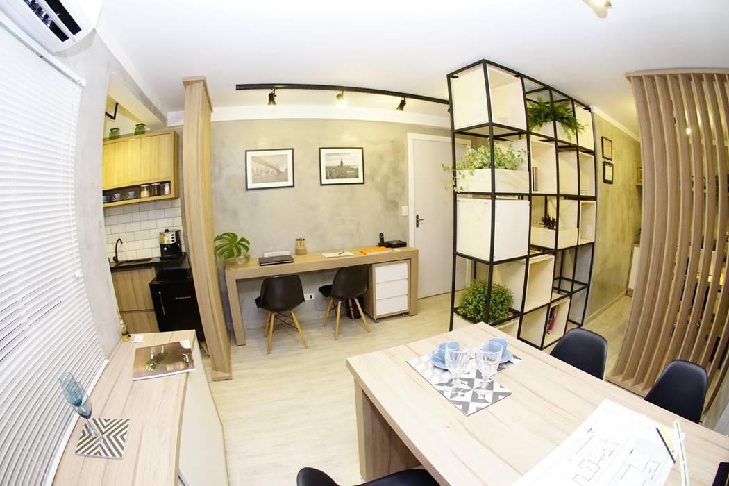 Oficinas de estilo  por Jorge Machado arquitetura, Industrial Concreto
