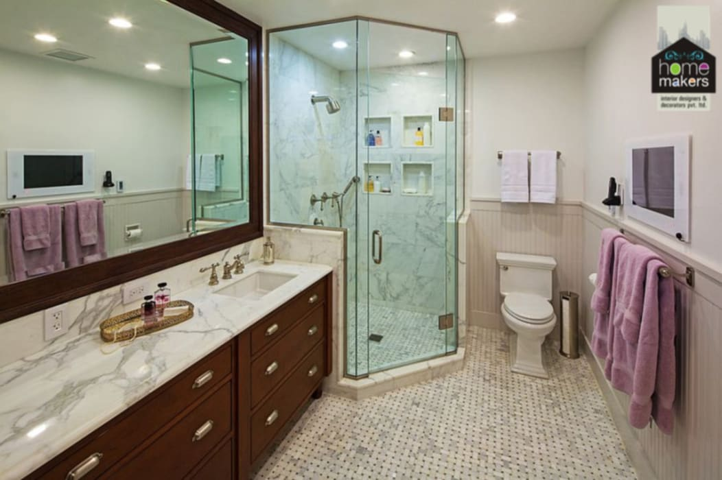 Stylish Washroom:  Bathroom by home makers interior designers & decorators pvt. ltd.