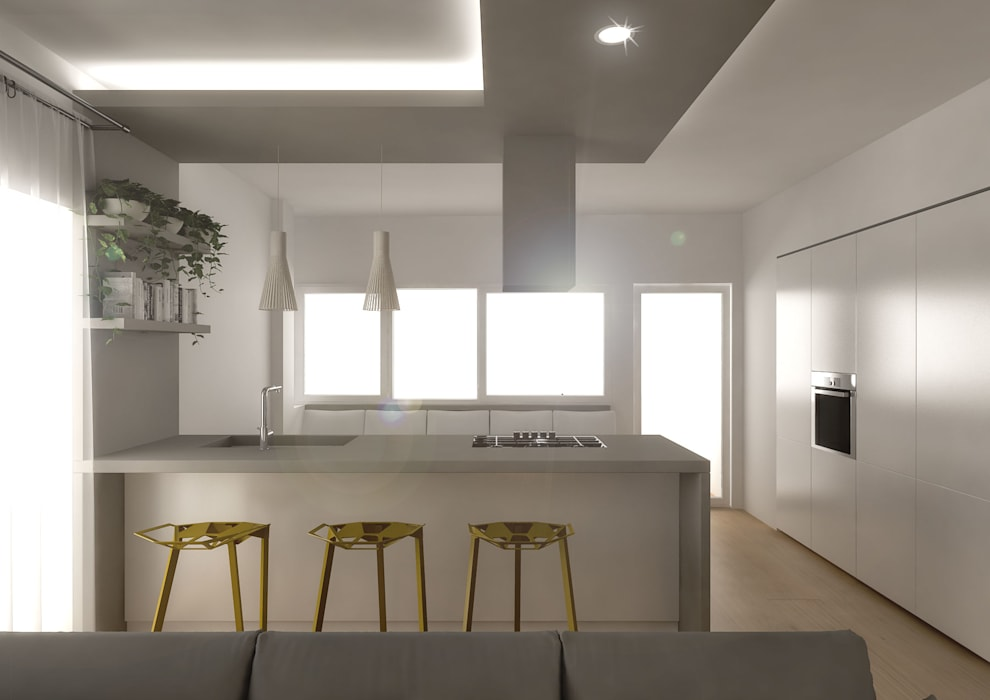 Architetto Luigia Pace Cocinas de estilo moderno Madera Beige