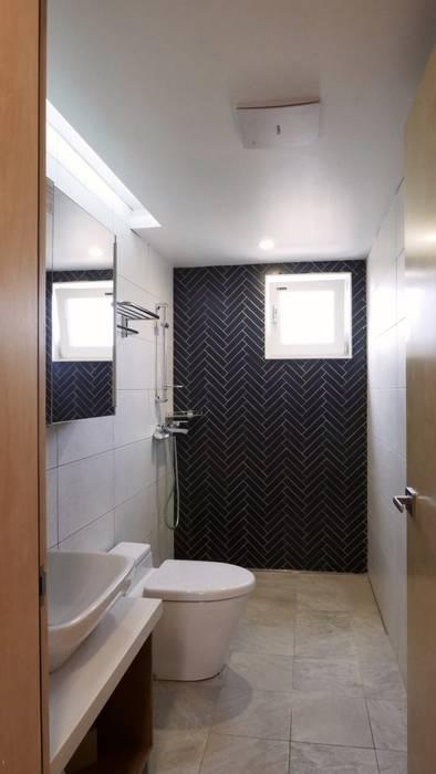 욕실 모던스타일 욕실 by 건축사사무소 리임 모던 타일