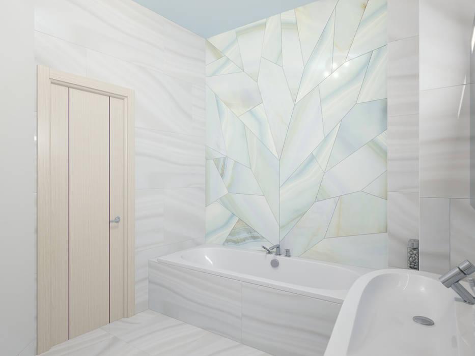 Студия дизайна интерьера 'Золотое сечение' Ванна кімната Керамічні Білий