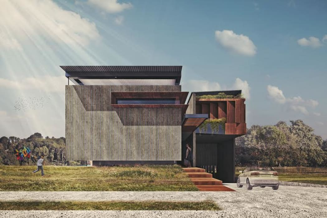 Houses by homify, Industrial Concrete