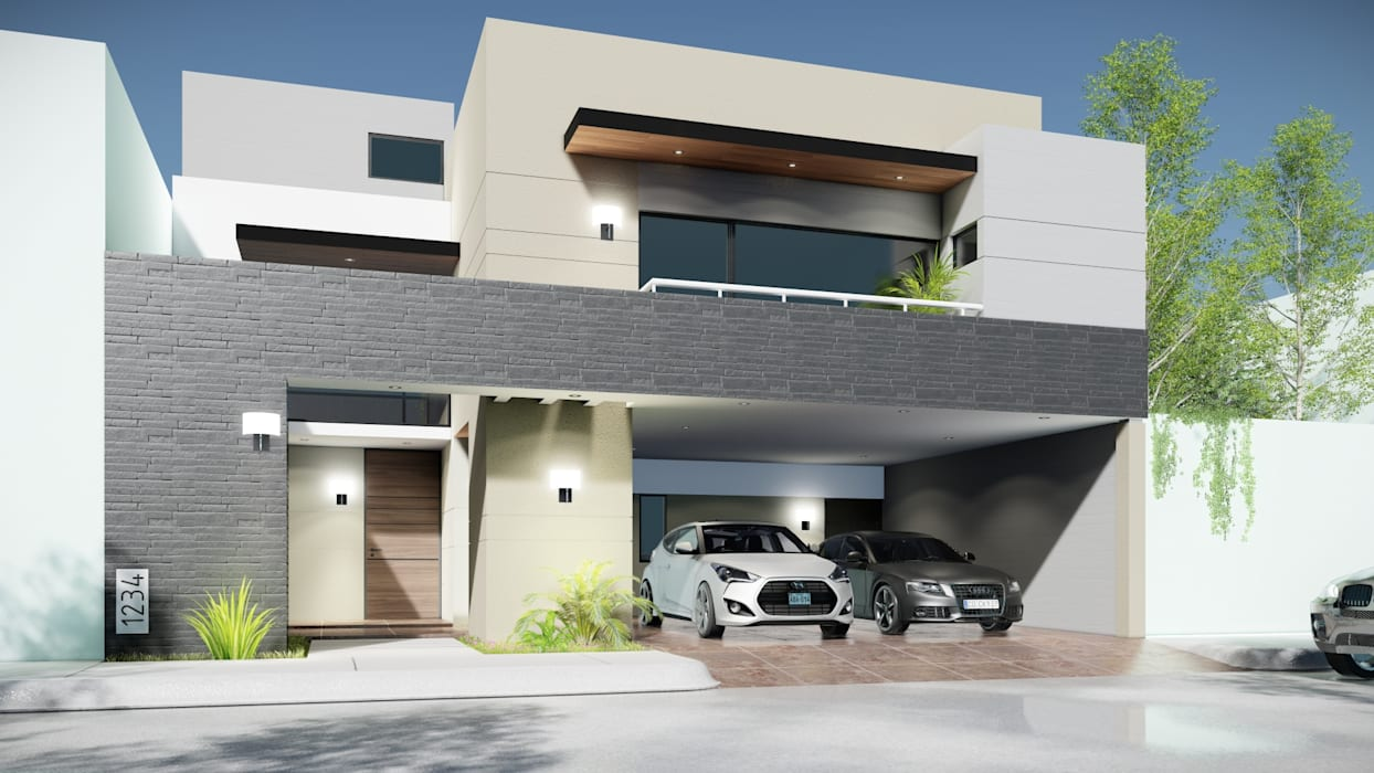 Modern houses by homify Modern پتھر