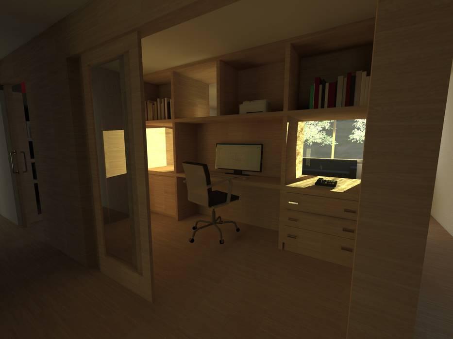 Estudios y oficinas de estilo moderno por JIEarq