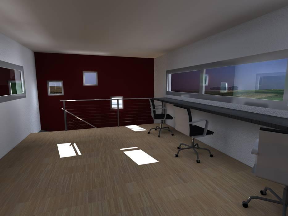 Salas multimedia de estilo moderno por JIEarq