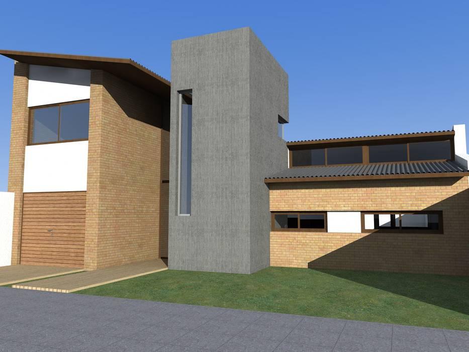 Casas de estilo rústico por JIEarq