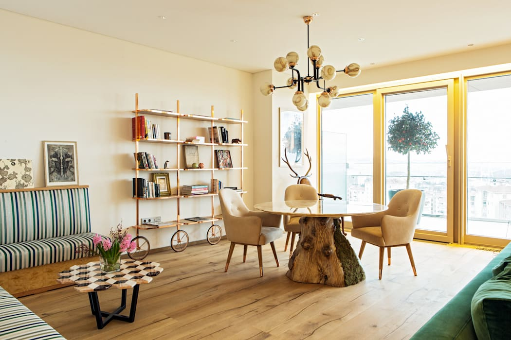 Living room by MERVE KAHRAMAN PRODUCTS & INTERIORS, Modern