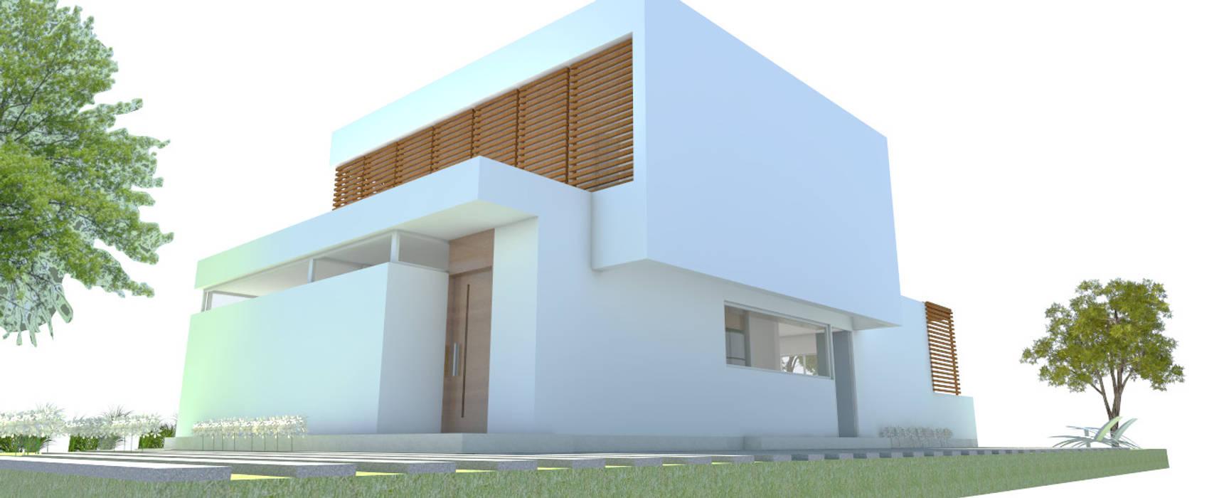 CASA CR: Casas de estilo  por Arquitecta Obadilla