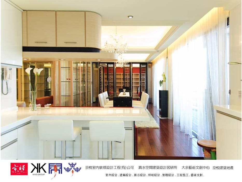 京悅設計 - 敬業麗明廖公館 現代廚房設計點子、靈感&圖片 根據 京悅室內裝修設計工程(有)公司|真水空間建築設計居研所 現代風