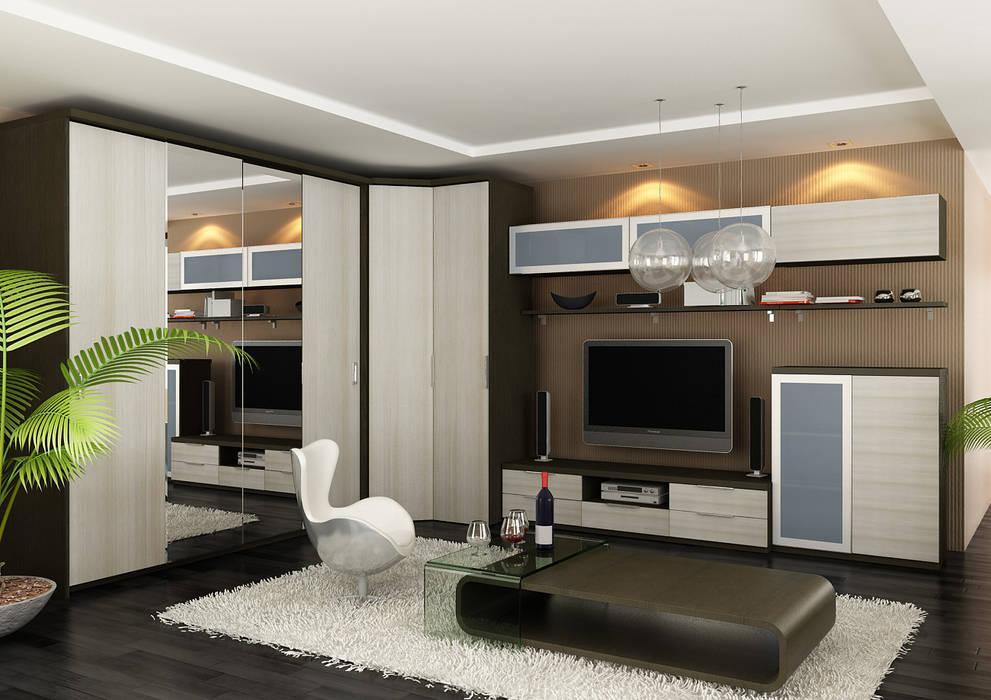Living room:  Living room by Bravo London Ltd