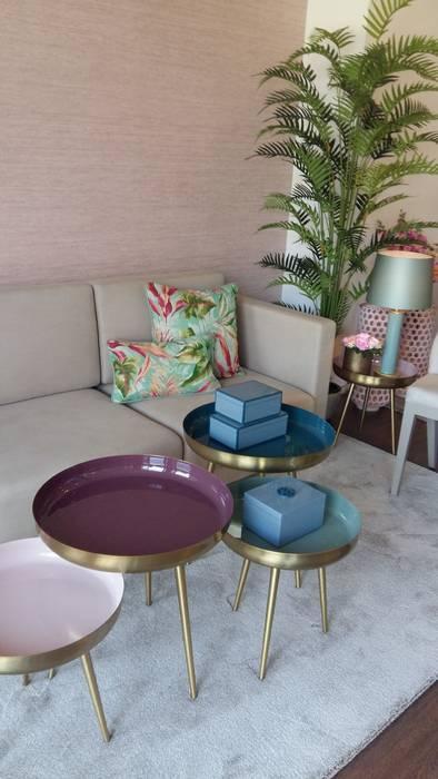 Sala estar Salas de estar tropicais por ROSA PURA HOME STORE Tropical Cobre/Bronze/Latão