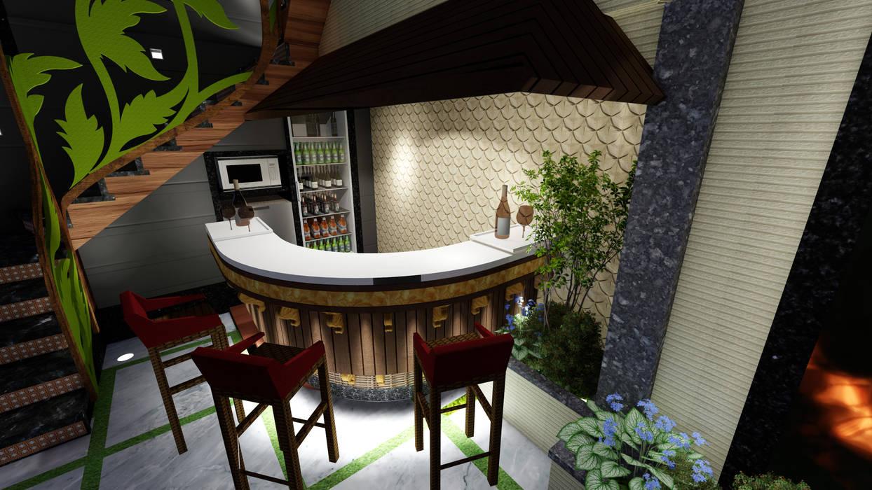 Outdoor Terrace Bar Designers. Modern balcony, veranda & terrace by Studio Machaan Modern