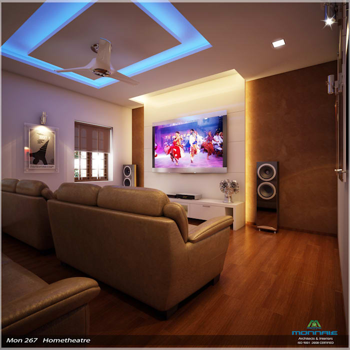 Home Theater Design I Love This Theater With The: Imposing Design...: Media Room By Premdas Krishna