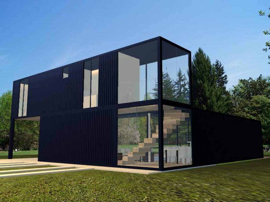 Houses by PRISCILLA BORGES ARQUITETURA E INTERIORES, Industrial
