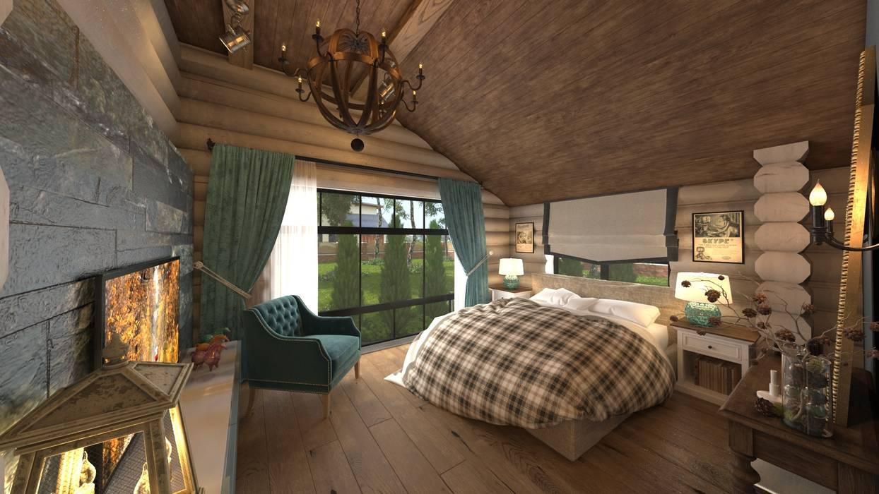 Dormitorios de estilo  de atmosvera, Rústico Madera Acabado en madera