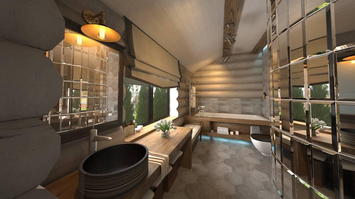 Bathroom by atmosvera, Rustic Wood Wood effect
