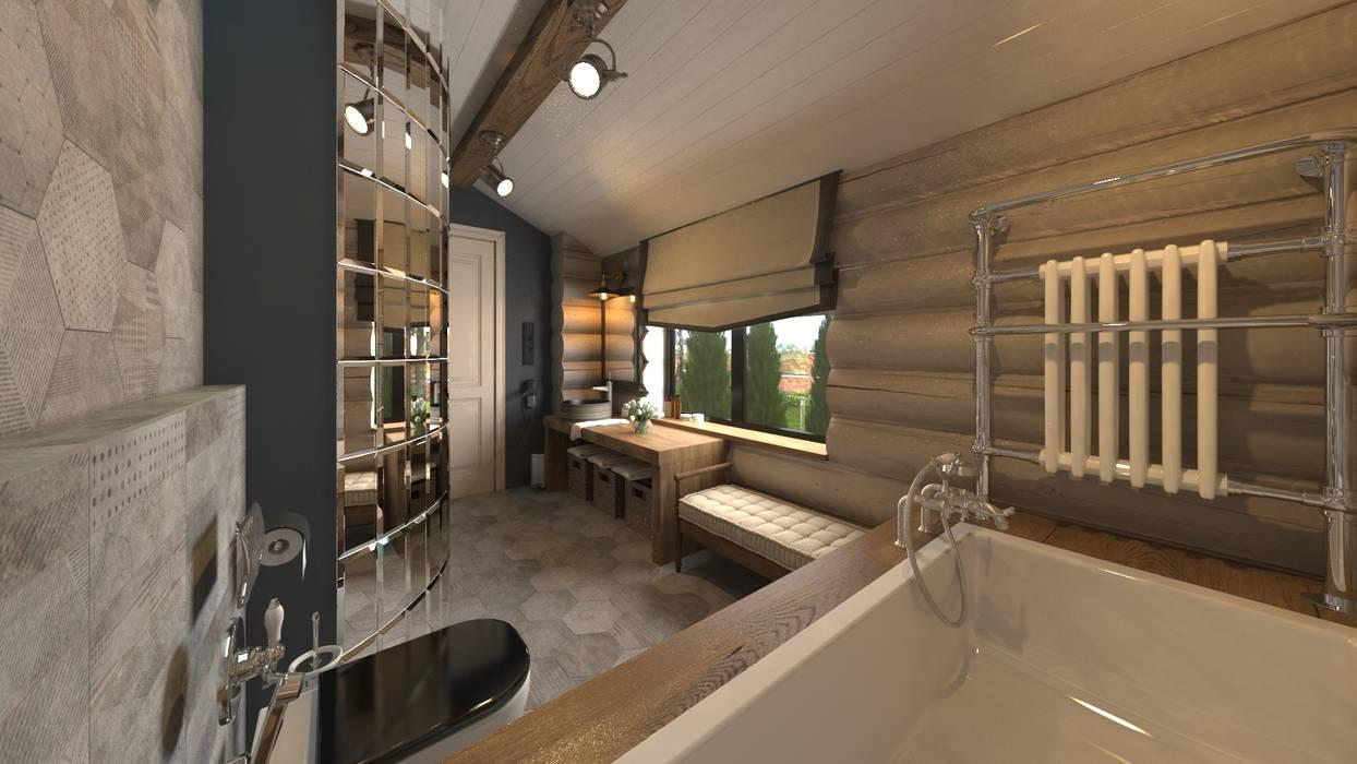 Baños de estilo  de atmosvera, Rústico Madera Acabado en madera