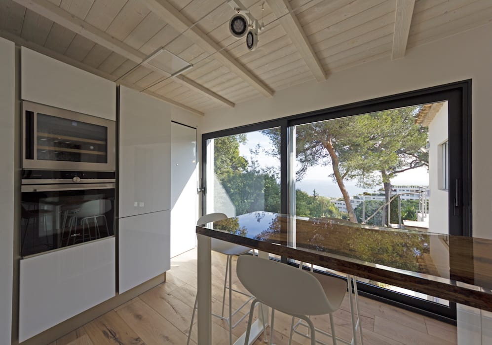 MBquadro Architetti Modern Kitchen
