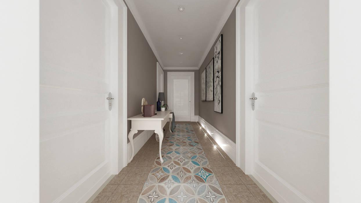 Projekty,  Korytarz, przedpokój zaprojektowane przez De Vivo Home Design