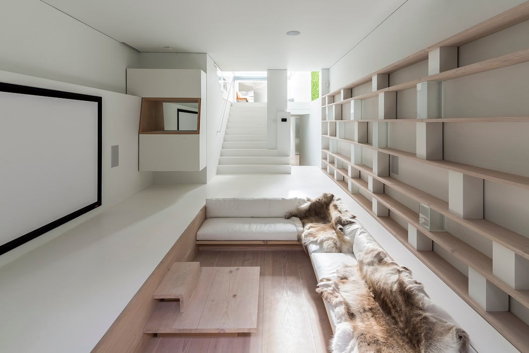 minimalistic Media room by Your Architect London