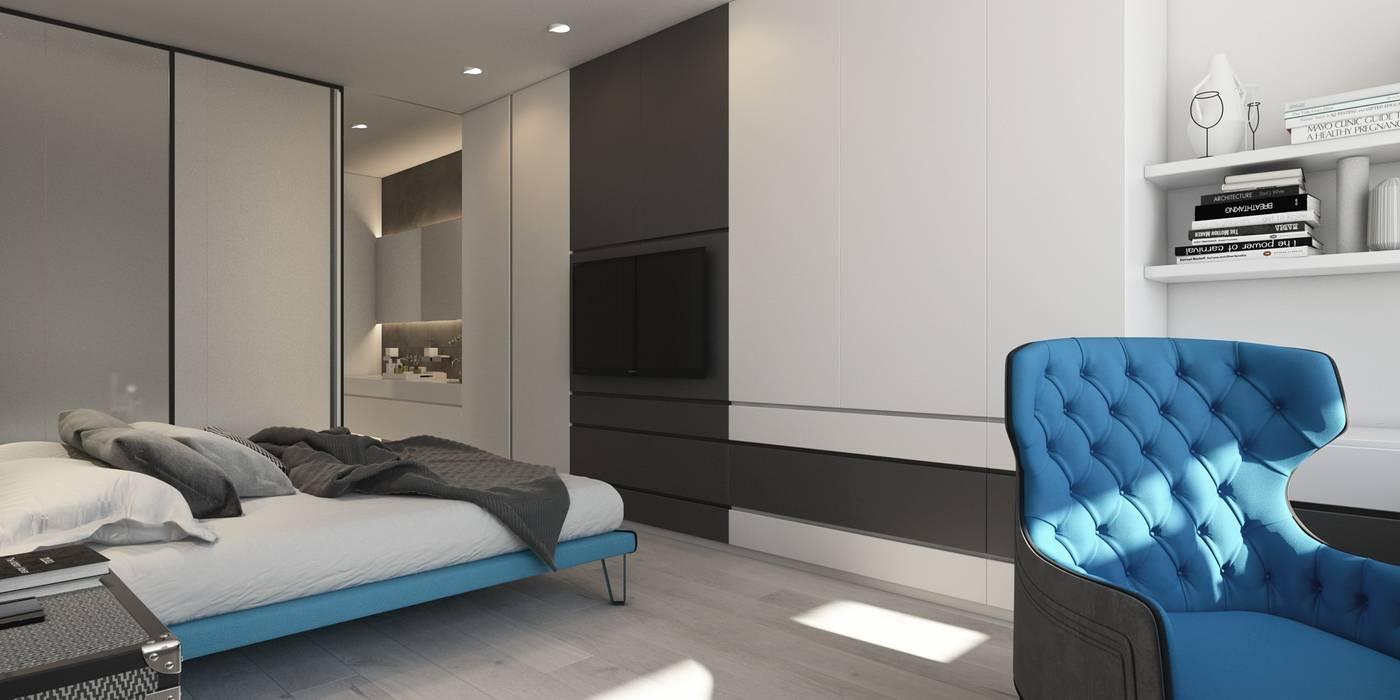 TRICOLOR Спальня в эклектичном стиле от ART Studio Design & Construction Эклектичный