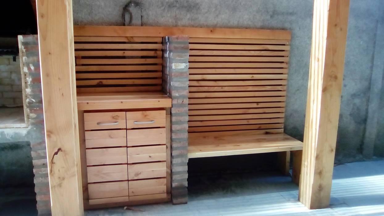 Terraza Y Quincho Vista Banca Y Mueble Balcones Y Terrazas