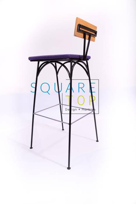 Silla bar 58, Cada detalle cuenta.:  de estilo industrial por SquareTop Design, Industrial Metal