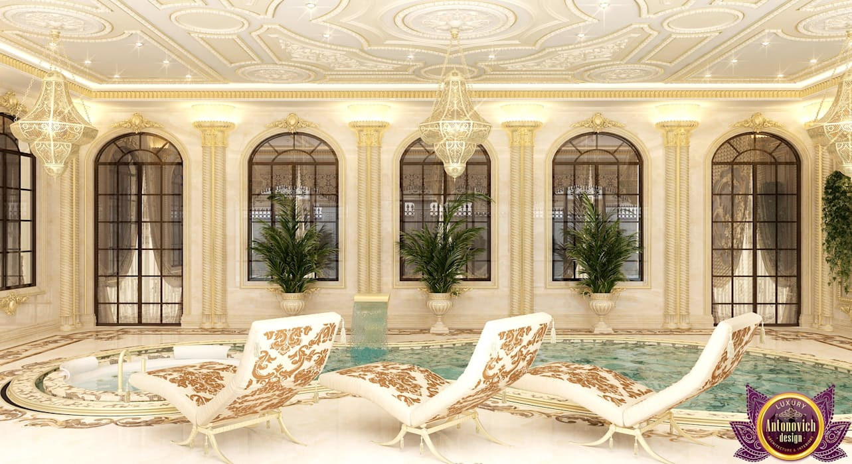 Luxurious pool design from Katrina Antonovich by Luxury Antonovich Design Asian