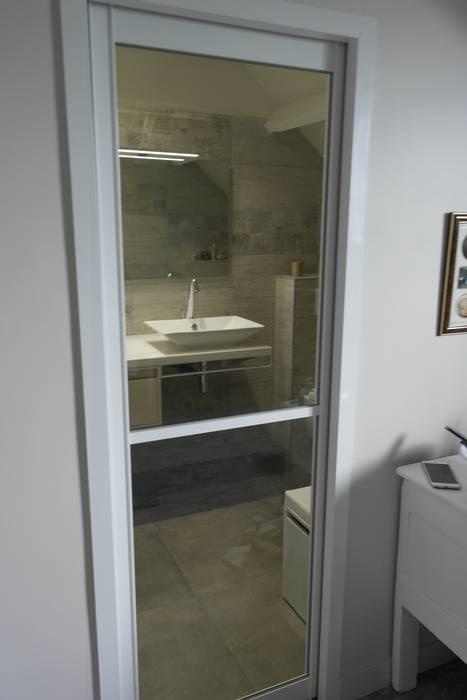 Création d\'une petite salle d\'eau dans une chambre: fenêtres de ...