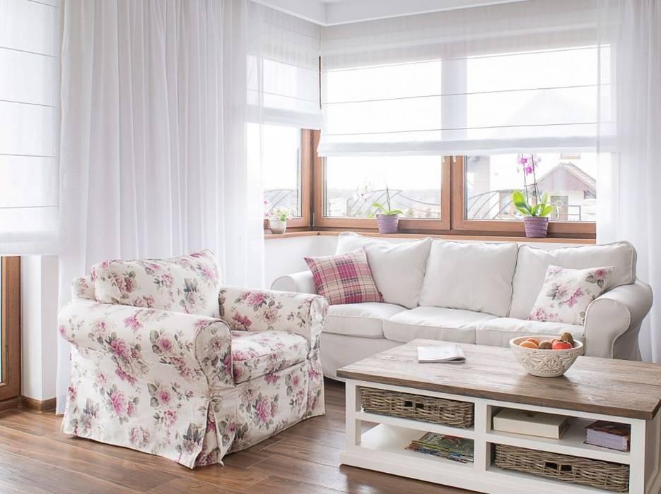 Vorhänge und raffrollo in kombination: wohnzimmer von dekoria gmbh ...